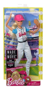 Barbie Beisbol Movimientos Deportivos Super Articulada