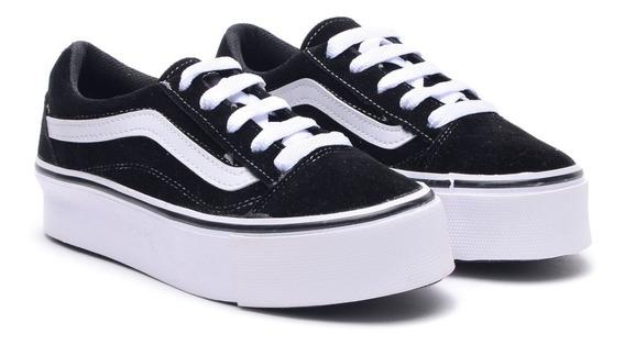 Zapatillas Mujer Sneakers Skool Moda Plataforma 2018 2019