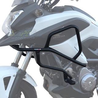 Protetor Motor Carenagem Coyote Com Pedal Preto - Nc 700 750