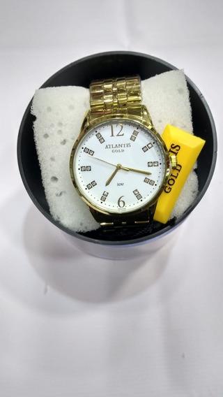 Relógio Feminino Dourado Atlantis