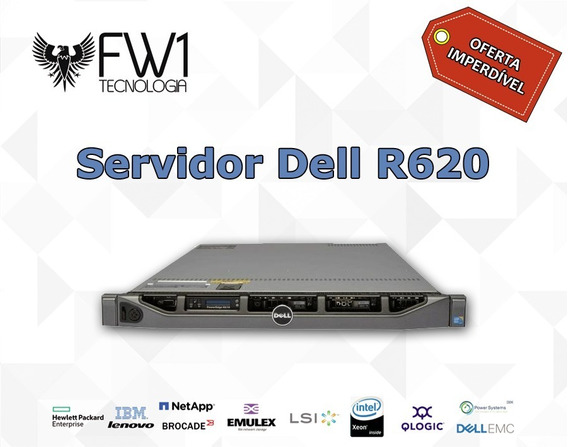 Servidor Dell R620 2x Quad 4 Core 2x 300gb 32gb Ram + Nfe