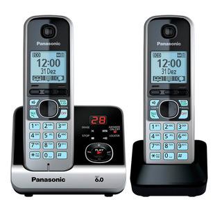 Telefone S/fio Dect 6.0 C/id Sec. Ramal Kxtg6722lb Panasonic
