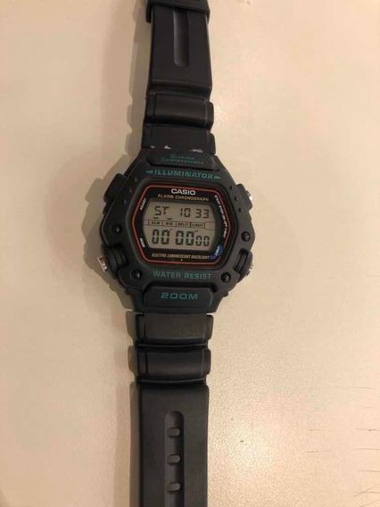 Relógio Casio Illuminator 200m Dw-290-1vs Original Garantia