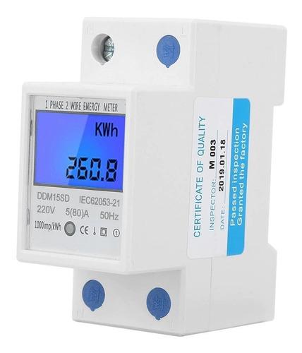 Medidor De Energía Eléctrica Monofásico Lcd 5-80a/multiuso