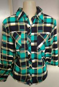 Camisa Xadrez Feminina Manga Longa Roupa Feminina