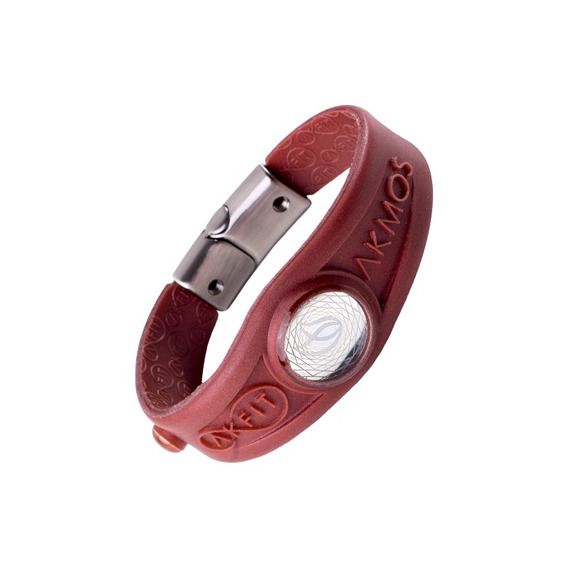 Bracelete Pulseira Magnética Akmos Akfit Pearly Red Burn Ori