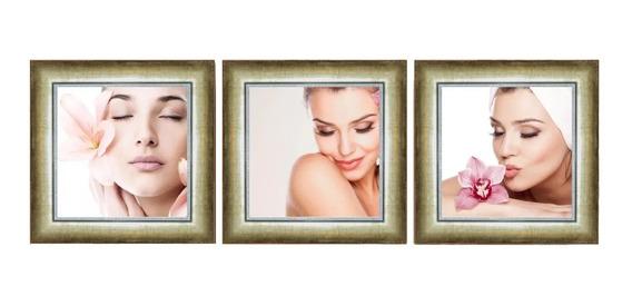 Quadro Decorativo Spa Clínica De Estética Facial Recepção