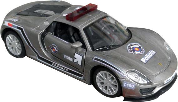 Miniatura Viatura Porsche Spyder Polícia Militar Pm Sp Rota