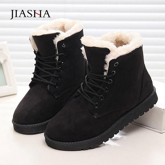 Mujer Botas De Invierno De Felpa Caliente Zapatos De Nieve C