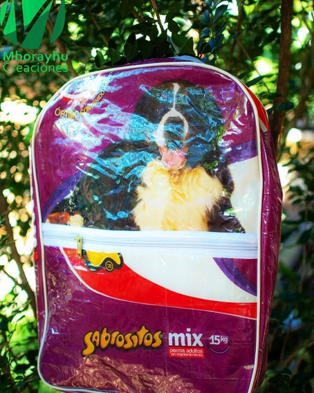 Mochila Ecológica (hecha Con Reciclaje) Violeta