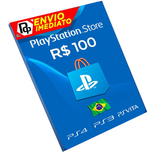 Cartão Playstation R$100 Reais Brasil Ps3/ps4/vita!!