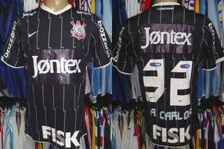 Corinthians 2011-12 Camisa Reserva Jontex G # 32 A. Carlos.