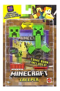 Minecraft - Creeper - Mattel - Con Comic