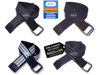 Cinto Masculino Lona Premium Dupla Face Largura 4cm L45 Full