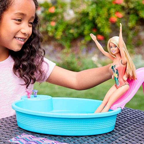 Barbie Piscina Glam Con Muñeca Nueva Y Original De Mattel.