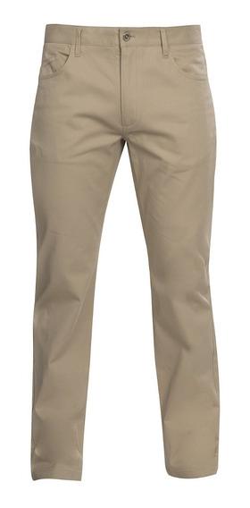 Pantalon Hombre Beige Chino Formal Casual Stretch 90301