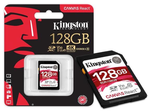 Cartao De Memoria Classe 10 Kingston Sdr 128gb Sdxc 128gb 10