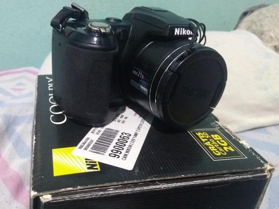 Camera Semi Profissional Nikon Coolpix L120 C/ Defeito 14 Mp
