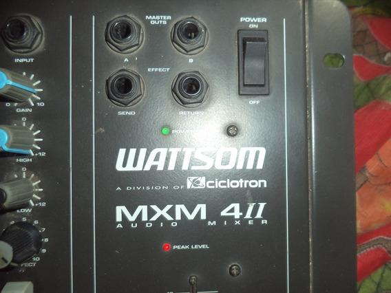 Mesa De Som Watt Som Mxm 4ii Audio Mixer Semi Nova Ok