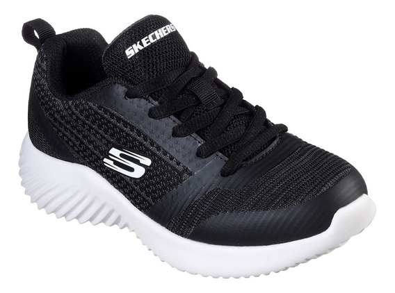 Zapatillas Niño Skechers Memory Foam Negras Bounder Original