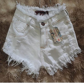 Shorts Jeans Feminino Cintura Médio Destroyed Anita