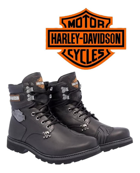 Sapato Bota Coturno Harley Davidson Masculina Motociclista