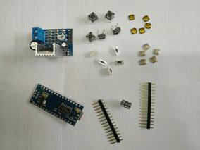 Super Kit Arduino Atmega Nano 3.0 + Amplificador + 20 Botões