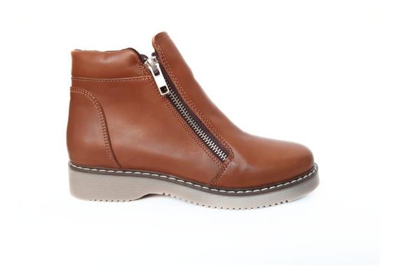 Zapatos Mujer Botas Cuero 2 Cierres #001