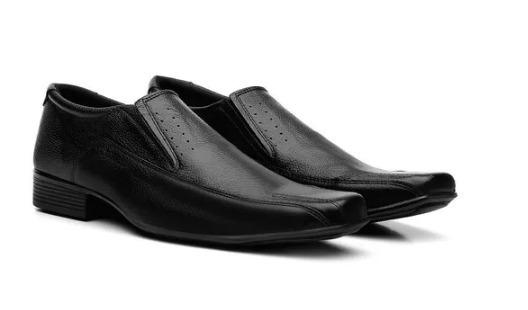 Sapato Social Masculino Em Couro Legitimo Com Carteira - 30%