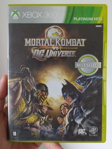 Mortal Kombat Vs Dc Universe Original Mídia Física Xbox 360