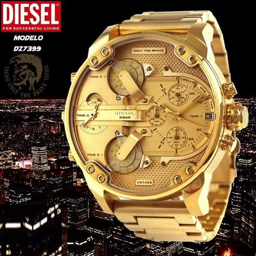 aaebd5b70ada Reloj Diesel Dorado Relojes Masculinos - Joyas y Relojes en Mercado ...