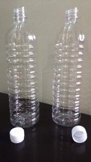 Envase Plastico Botella Pet Pote C/tapa Transp 1 Lt