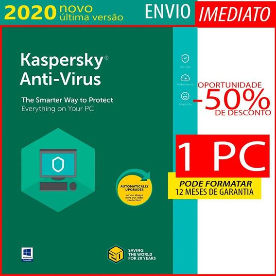 Kaspersky Anti-virus 1 Pc 1 Ano Envio Imediato