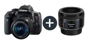 Câmera Canon Digital Prof Rebel T100+ Lente Ef50mm F/