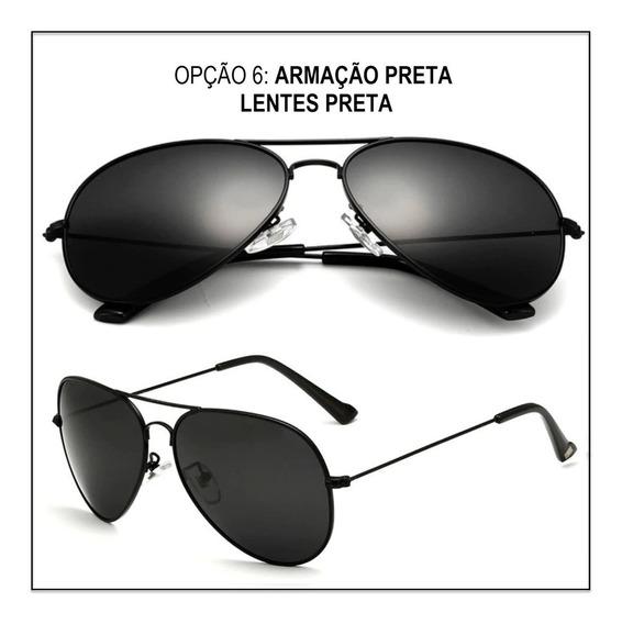 Oculos De Sol Aviador Masculino Feminino Slim Original Promo