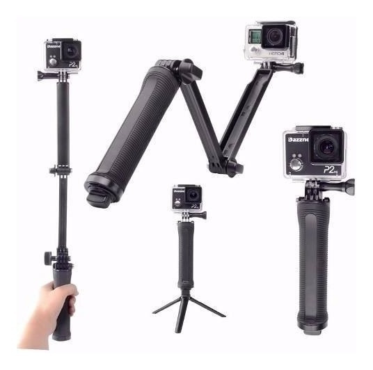 Kit Bastao 3 Formas Gopro Hero 5 4 3 3+ Tripe Monopod 3 Way