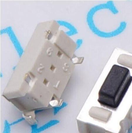 5 Switch Push Button 3x6x3.5 Smd 2-pin Lado - Frete Grátis