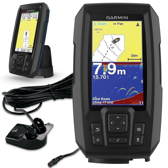 Garmin Striker Plus 4 C/ Transducer Sonar Pesca Novo