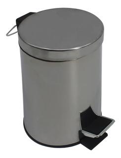 5 L Litro inoxidable pedal bin papelera oficina de Cocina Baño Residuos Basura Nuevo Y En Caja 051 C
