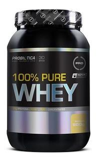 100% Pure Whey 900g Concentrado Pó Pote Wpc Bcaa - Probiotica