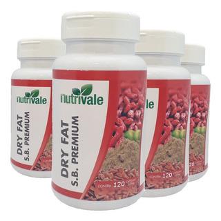 Kit 4 Pilula Seca Barriga Dry Fat 480 Cápsulas Emagrecedor