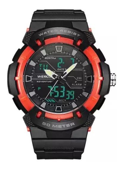Relógio Original Weide® Com Nf, Com Garantia+relógio Brinde
