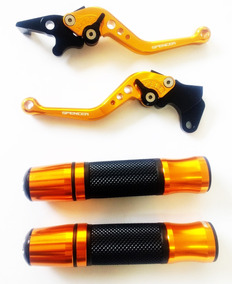 Kit Manete Spencer E Manopla Dourado Cbx200 Cbx250 Cb300r