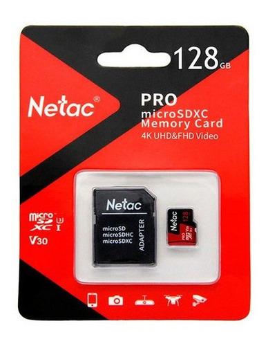Cartão Memoria Micro Sd 128gb Extreme Pro Netac C Adaptador