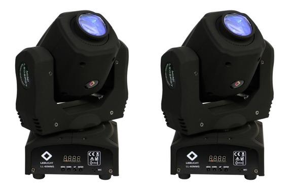 Kit 2 Unidades Moving Mini Led 60w Prisma Spot Nf Garantia