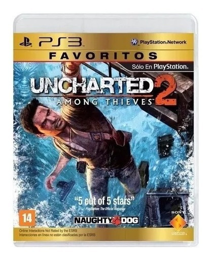 Jogo Uncharted 2 Among Thieves Ps3 Física Novo Lacrado