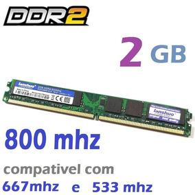 Memória Ddr2 800mhz 2gb Intel E Amd Nova - Lacrada Lanshuo