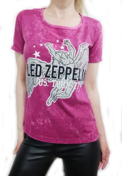 Remera Aldogon Batik Magenta - Led Zeppelin
