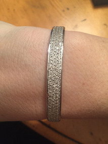 Bracelete De Diamantes E Ouro Branco 18k