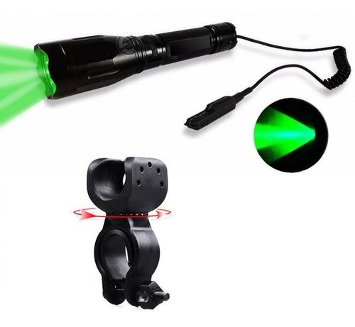 Lanterna Luz Verde Tática Led Cree P/ Sobrevivência Xm30985